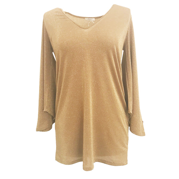 Knit Lurex Tunic | Gold-Pho Firenze-The Grove
