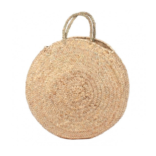 Large Round Wicker Tote-French Basket-The Grove