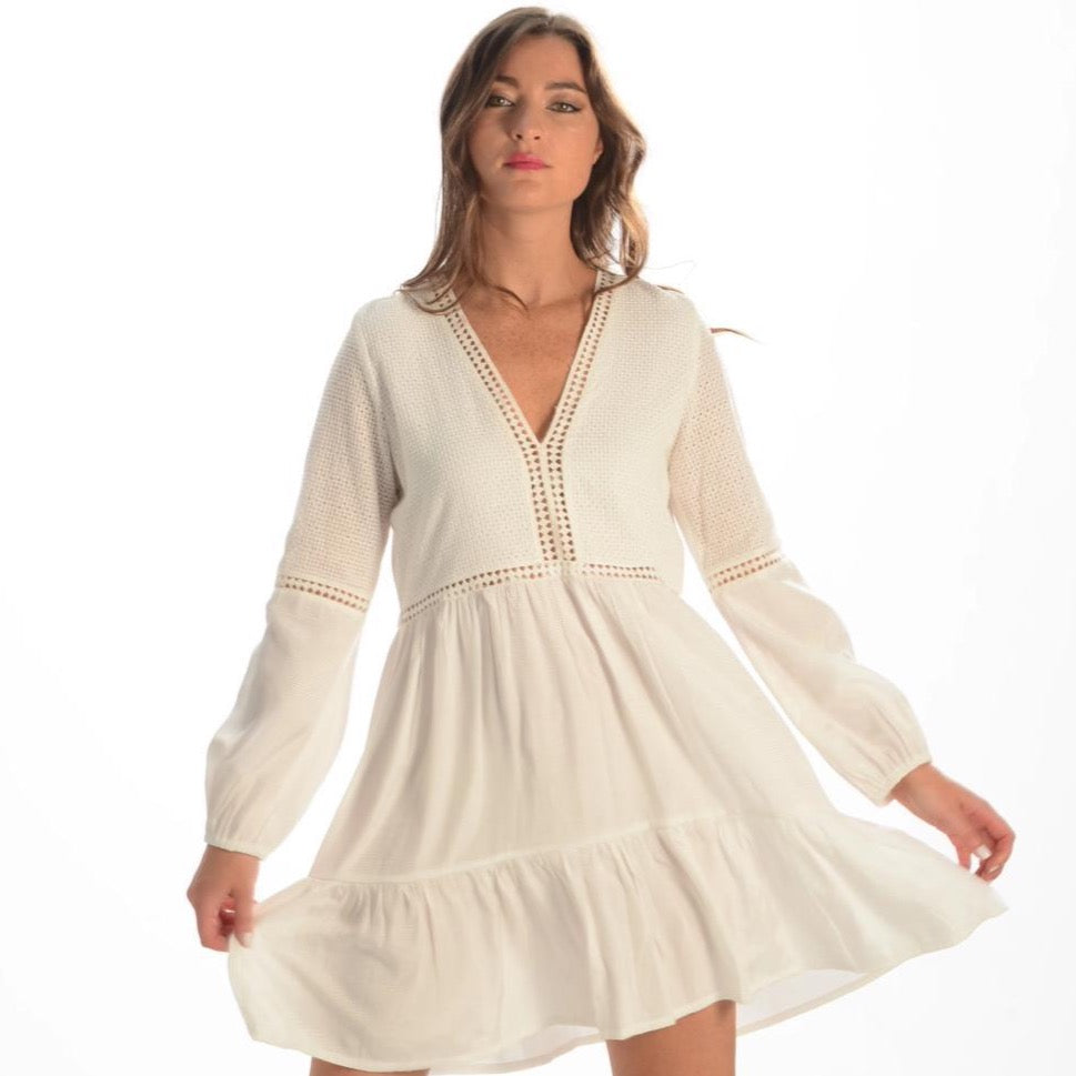 St Barth's Dress | White