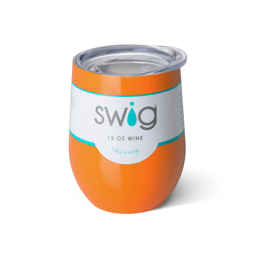 Insulated Wine Glass | Orange-Swig-The Grove