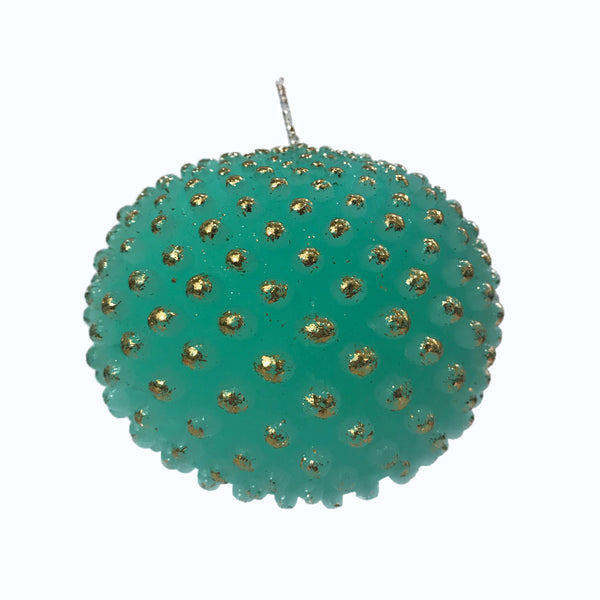 Dotted Ball Candle | Teal