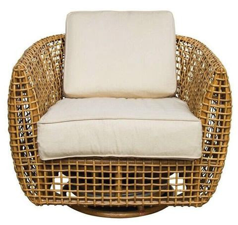 Southport Rattan Swivel Chair-Society Social-The Grove