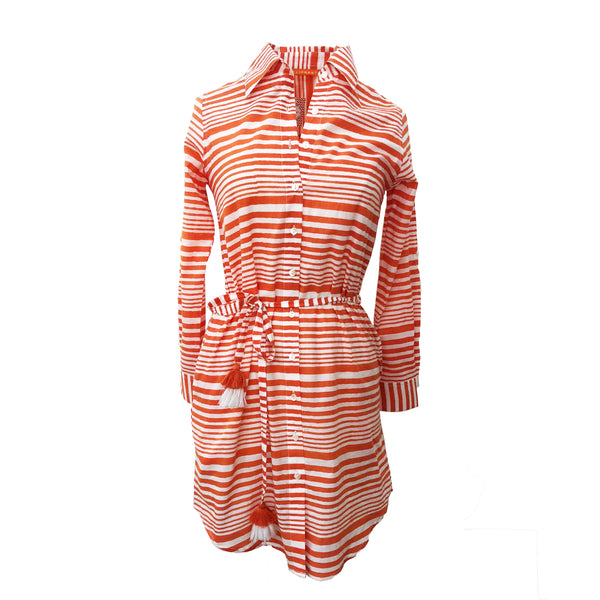 Waldo Shirt Dress | Orange