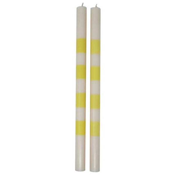 Yellow & White Candle Set
