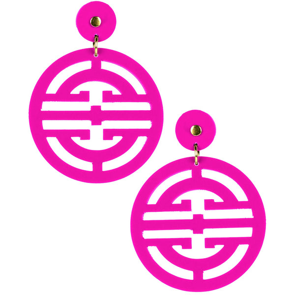Zoey Earring | Hot Pink