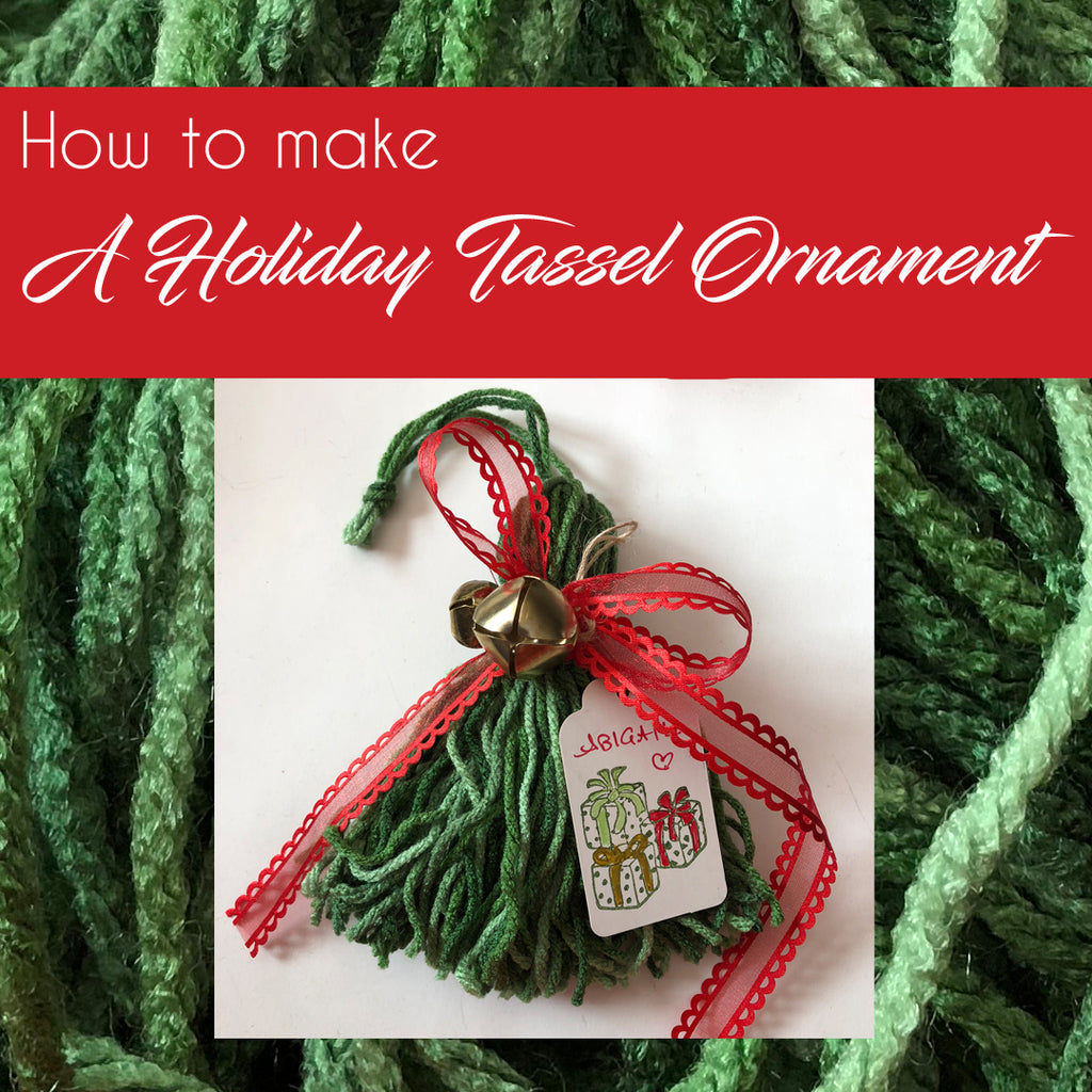 How to: Make a Holiday Tassel Ornament