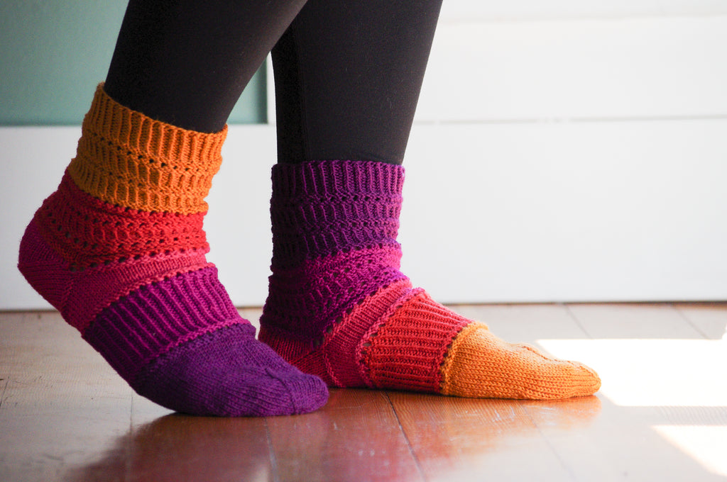 Bander Ridge, the Socks that Knit Themselves.