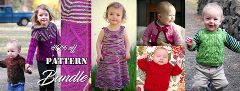 40% off Kids Bundle, get Sibling Revelry Cardigan, Sibling Revelry Pullover, Delilah, Carmadine and Kiruto for 40% off when you buy all 5 patterns in the kids bundle