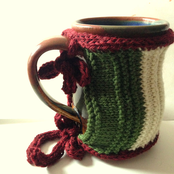 Make a Mug Cozy from a Swatch