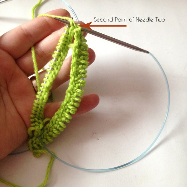 How to knit in the round on two circular needles
