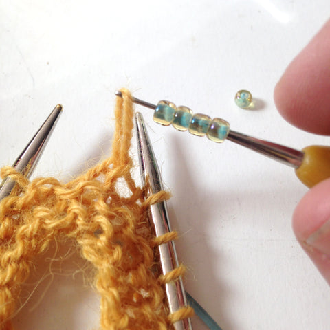 How to add beads to your knitting
