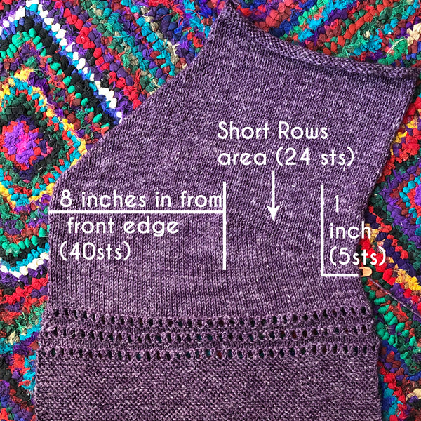 How to: Calculate Short Rows for a Cardigan