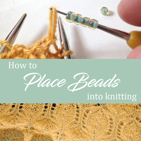 How to Place Beads into Knitting