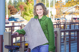 Grand Boulevard Wrap knitting Pattern by Meghan Jones, worsted weight, charted and written.