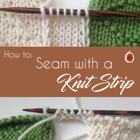 How to Seam 2 finished knitted pieces with a knit strip