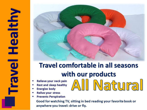Bio Neck/Travel Pillow With Case