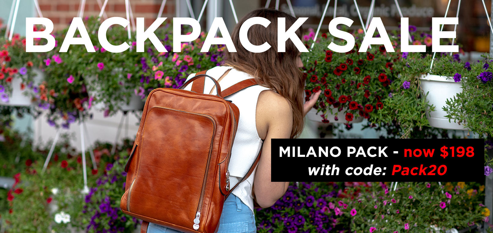Leather Backpack Sale