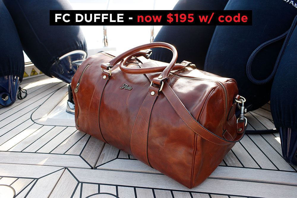 Floto Leather Duffle Travel Bag