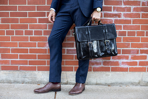 Floto Leather Messenger Bag Briefcase