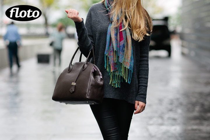 Floto Chiara Leather Bag Dark Brown