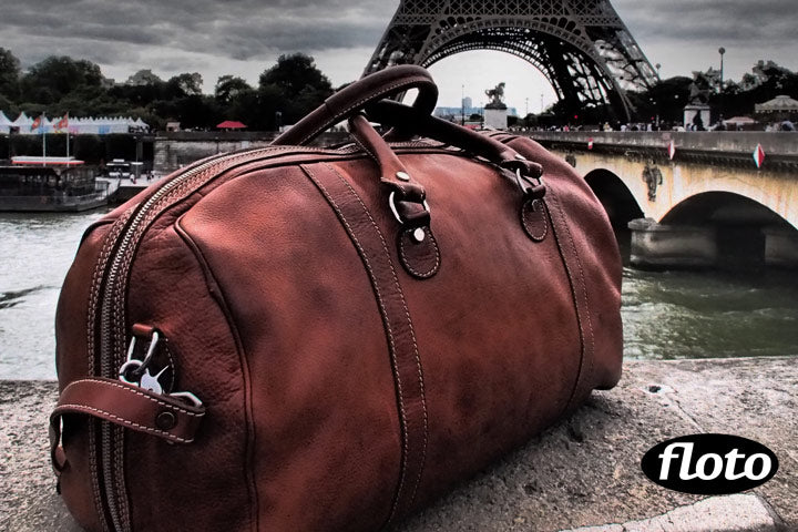leather duffel bag parma