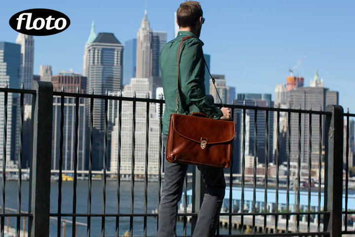 Floto Leather Briefcase Messenger