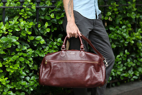 leather duffle travel weekend bag