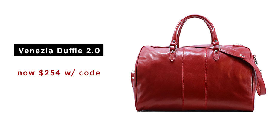 Floto Leather Duffle Bag