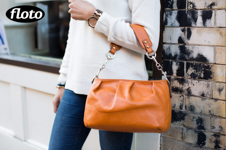 Floto Firenze Hobo Leather Bag