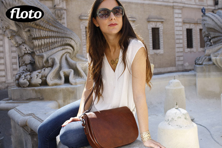 leather saddle bag floto roma