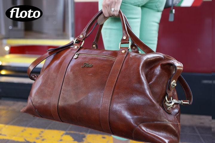 leather duffle bag floto cabin