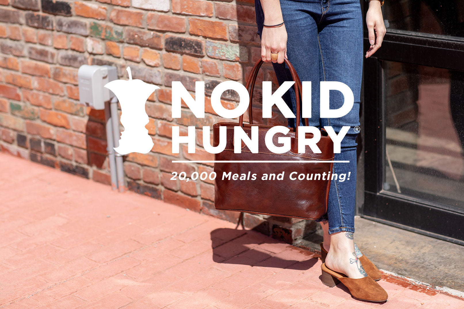 Floto Leather Bags and No Kid Hungry