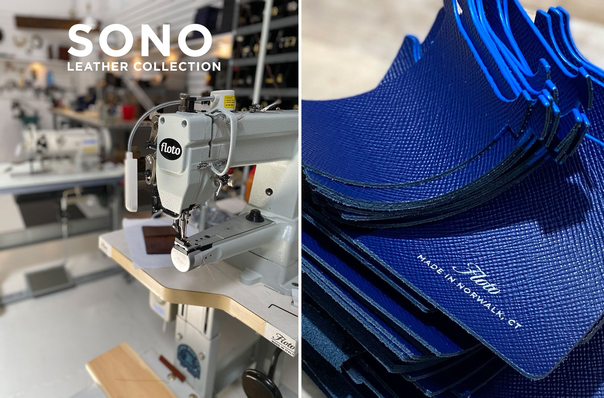 Floto Sono Leather Collection is made in Norwalk, CT - U.S.A.