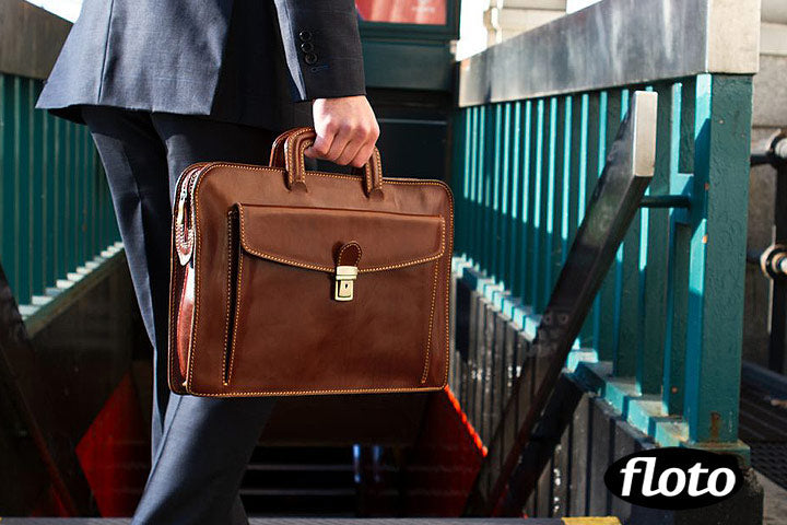 leather briefcase milano slim bag