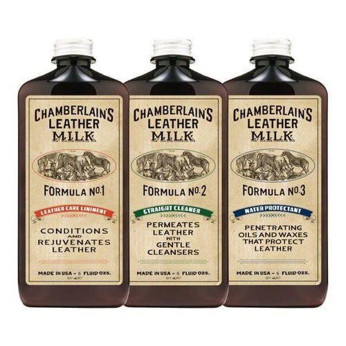 Floto Chamberlain's Leather Conditioner, Cleaner, Water Repellent Kit