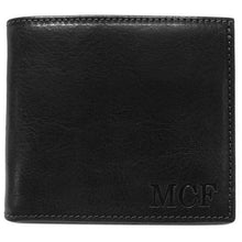 Load image into Gallery viewer, Leather Wallet Floto Venezia black monogram