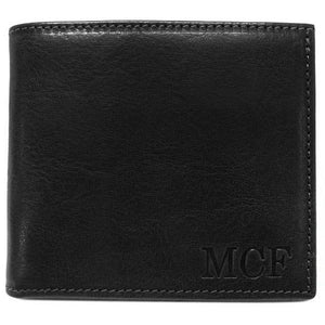 Leather Wallet Floto Venezia black monogram