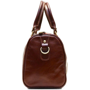 leather boston handbag