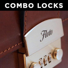 Load image into Gallery viewer, Leather Briefcase Combination Locks