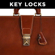 Load image into Gallery viewer, Leather Briefcase Key Locks