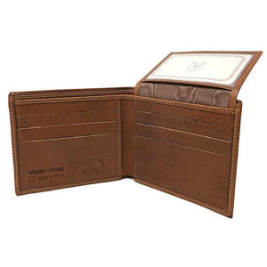 Italian Leather Wallet Floto Venezia brown