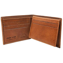 Load image into Gallery viewer, Floto Italian Leather Wallet Billfold Card Case Venezia saddle 3