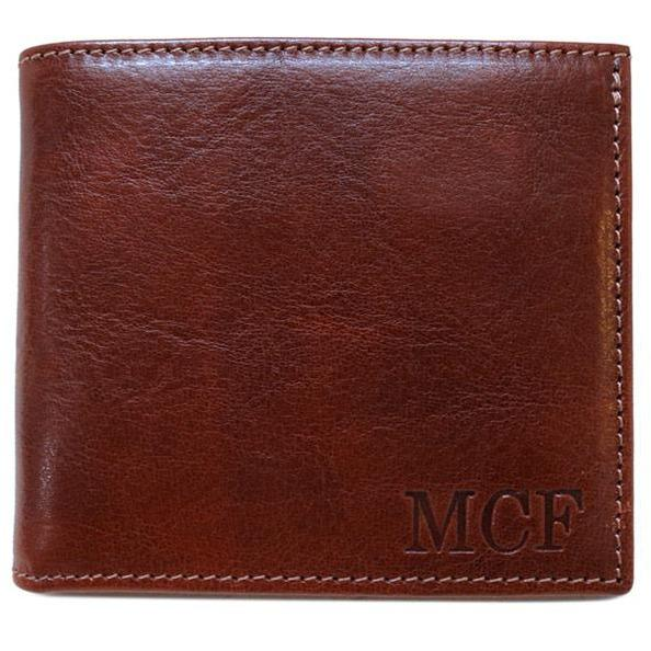 Leather Wallet Floto Venezia brown monogram