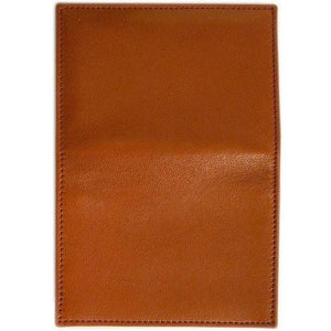 leather card case wallet floto brown