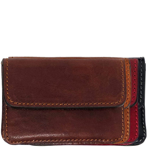 Floto Italian Leather Card Case Wallet