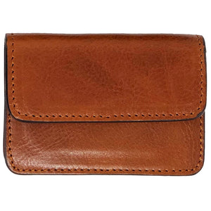 Floto Italian Leather Card Case Wallet olive brown