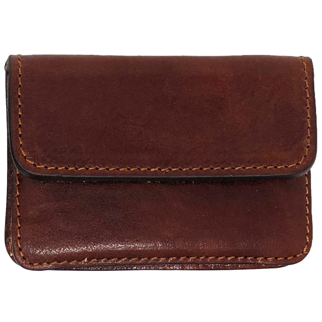 Floto Italian Leather Card Case Wallet brown