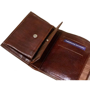 Leather Tri-fold Clutch Wallet Floto Venezia inside 3