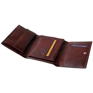 Leather Tri-fold Clutch Wallet Floto Venezia inside 2