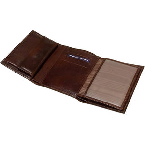 Leather Tri-fold Clutch Wallet Floto Venezia inside 1